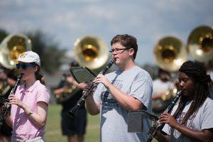Marching Mocs practice on Engel Field. Sept, 2017.