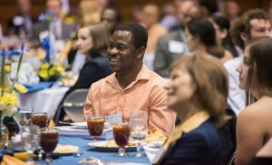 Students and scholarship benefactors meet face-to-face at annual luncheon