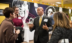 Dr. Trae Cotton, new Vice Chancellor for Student Development, is welcomed to UTC