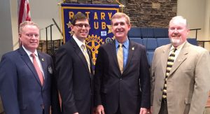 Chancellor Angle updates the Rotary Club on advancements at UTC