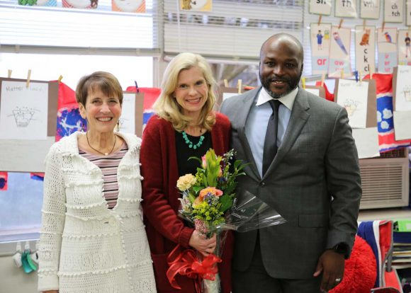 Michelle Bailey, center, was named a 2020 Teacher of the Year by Hamilton County Schools