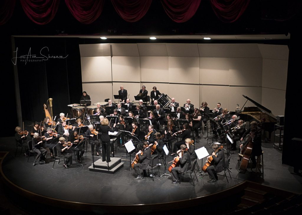 UTC symphony orchestra performs on stage